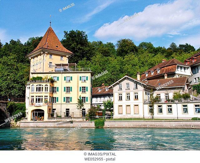 The Aare River. Bern. Switzerland