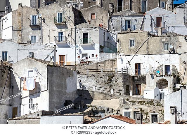 The Rione Junno district of Monte Saint'Angelo on the Gargano Peninsula, Puglia, Southern Italy