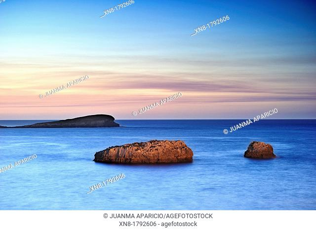 Oriental Coast of Cantabria at sunset, Spain