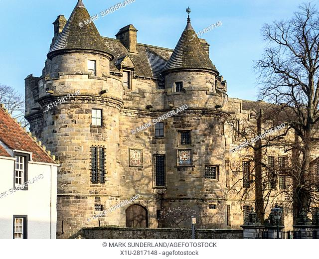 Falkland Palace at Falkland Fife Scotland