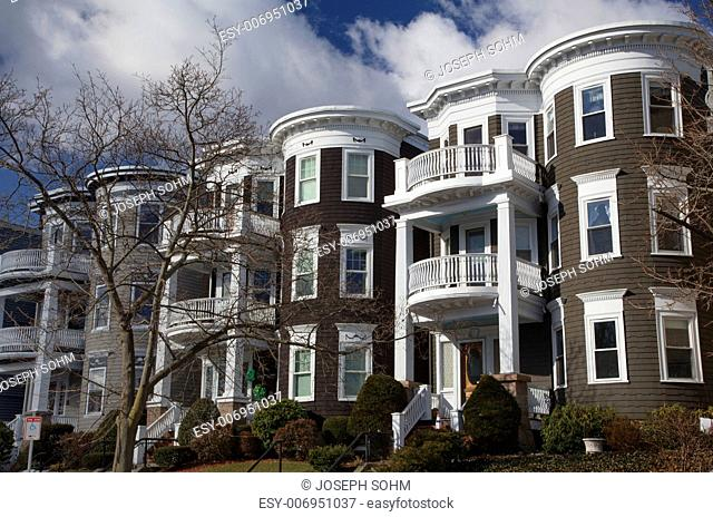 Upscale condos and homes of South Boston, Massachusetts, USA