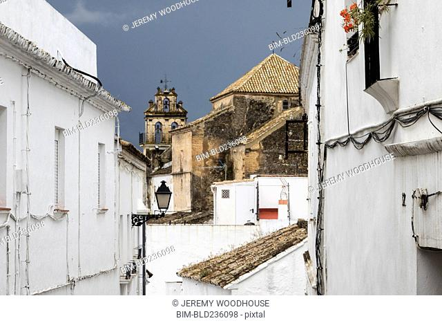 White buildings, Arcos de la Frontera, Andalucia, Spain