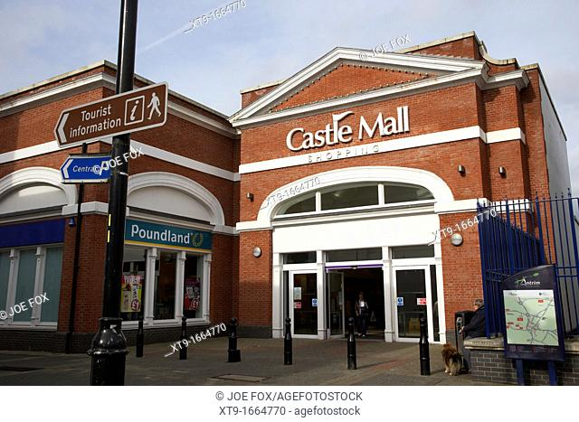 castle mall shopping centre antrim town county antrim northern ireland uk