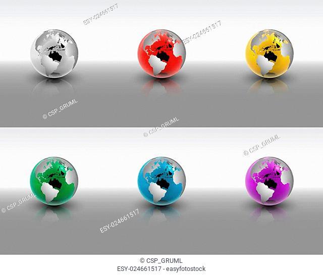 Crystal Globe Set