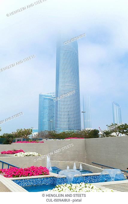 Downtown Abu Dhabi, Landmark Tower, Corniche Flower Beds, United Arab Emirates