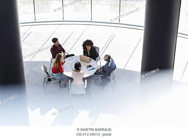 Business people meeting, planning at office table
