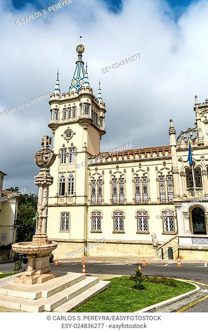 Panoramic view of Municipality of Sintra (Camara Municipal de Sintra), Portugal