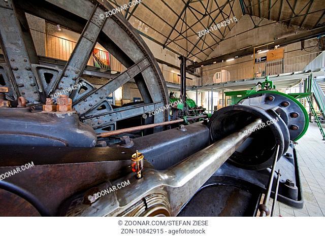 Maschinenhalle, Bergwerk Fuerst Leopold, Dorsten, Ruhrgebiet, Nordrhein-Westfalen, Deutschland, Europa