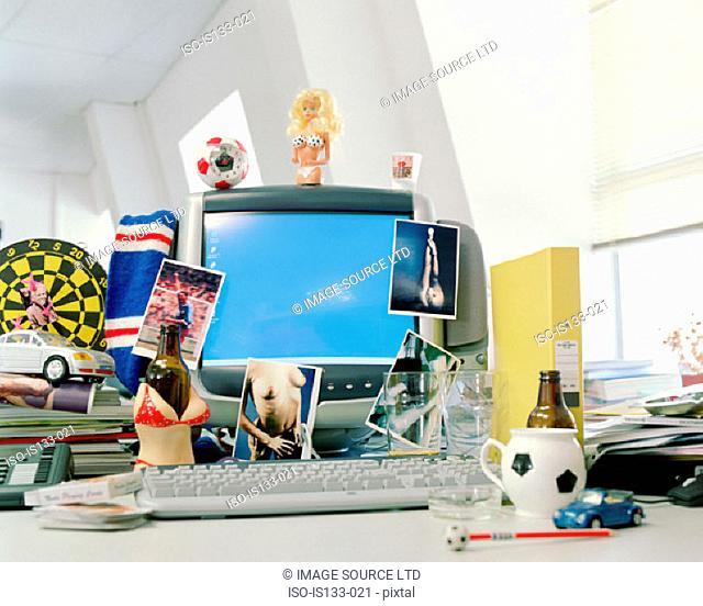 Masculine objects on desk