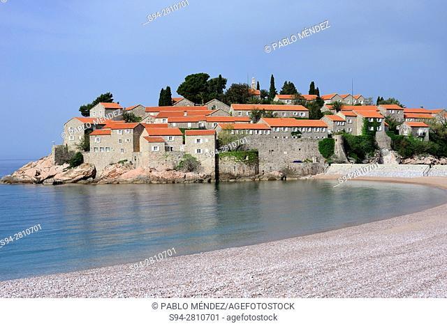 Peninsula of Sveti Stefan, in the coast of Montenegro