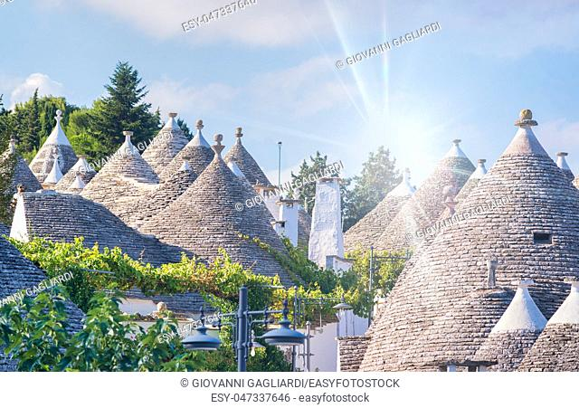 Beautiful Trulli of Alberobello, Italy