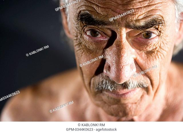 Face of old man