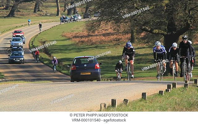 Struggling up the hill in Richmond Park London