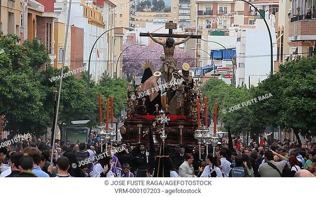 Spain. Andalucia, Region, Malaga City ,Costa del Sol,Easter Celebrations,Holly Week , Parade