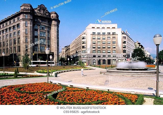 Spain. Basque Country. Biscay. Bilbao. Federico Moyua Square. Gran Vía