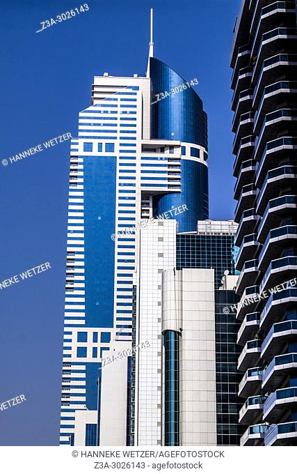 Modern architecture at the WTC in Dubai, UAE