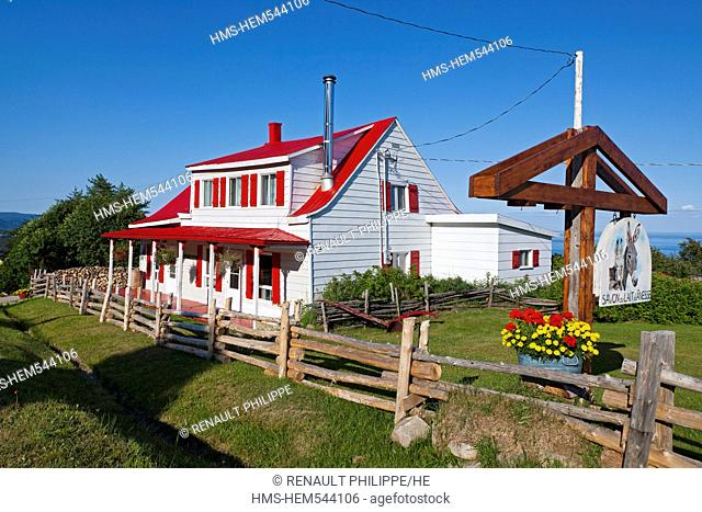Canada, Quebec province, Charlevoix region, St Lawrence river raod, Port au Persil member of the association of the most beautiful villages of Quebec