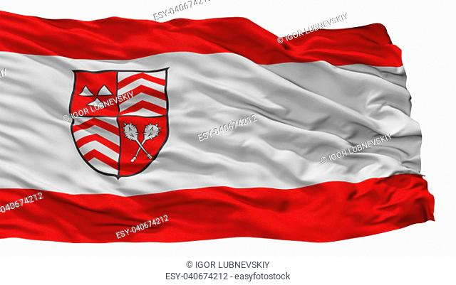 Werther Westfalen City Flag, Country Germany, Isolated On White Background