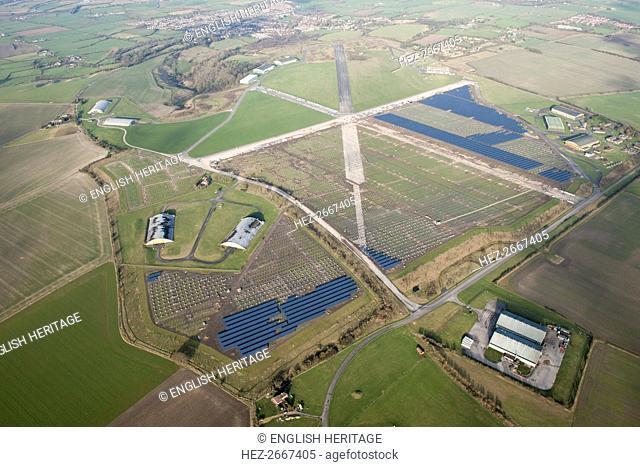 Wroughton Airfield Solar Park, Wiltshire, 2016. Artist: Damian Grady