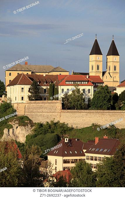 Hungary, Veszprém, Castle District, skyline, St Michael Cathedral,