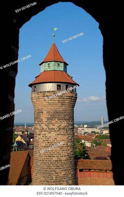 Der Simwellturm in Nürnberg