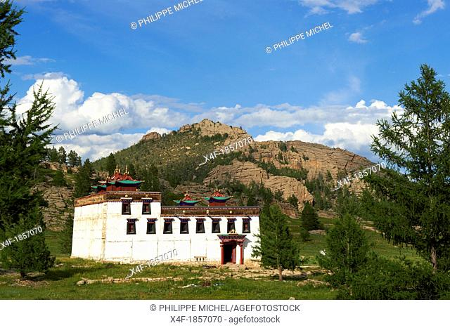 Mongolia, Khentii province, Baldan Bereeven Khiid monastery built in 1700, distroy in 1930 by commusnist and recently rebuilt