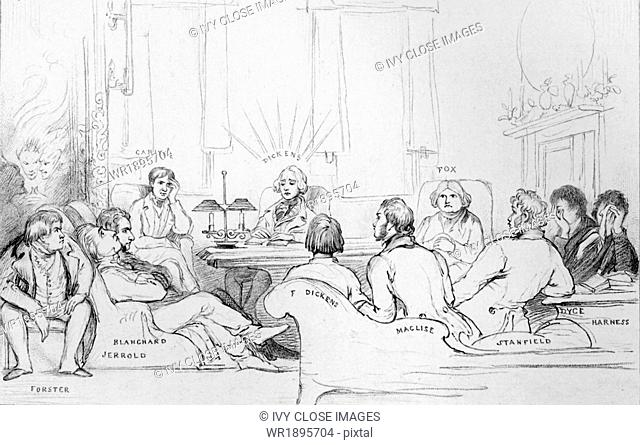 This drawing is from The Life of Charles Dickens by John Forster, Vol II (1842-1852). This sketch dates to Monday December 2, 1844