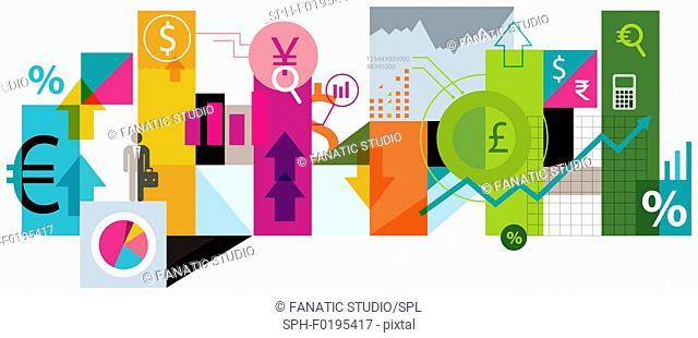 Illustration of online trading