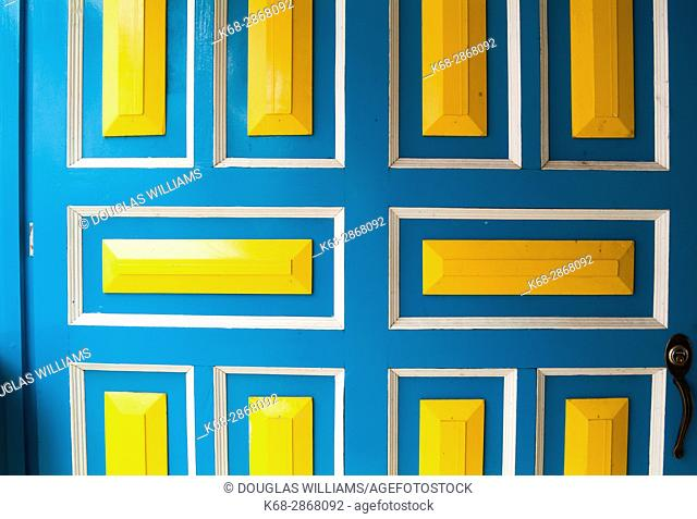 Colourful door in Filandia, Colombia, South America