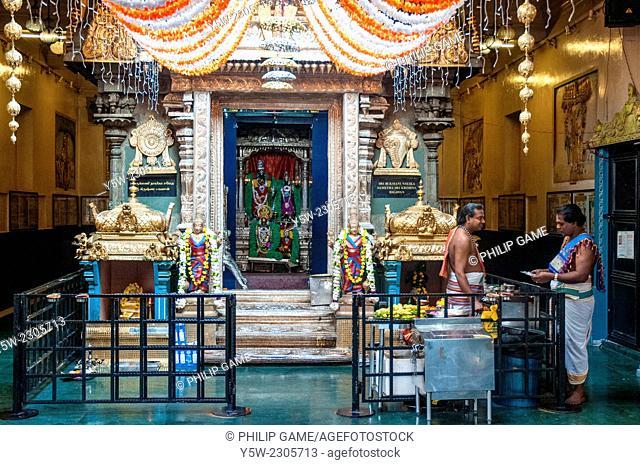 Sri Krishnan Hindu Temple in Waterloo Street, Singapore