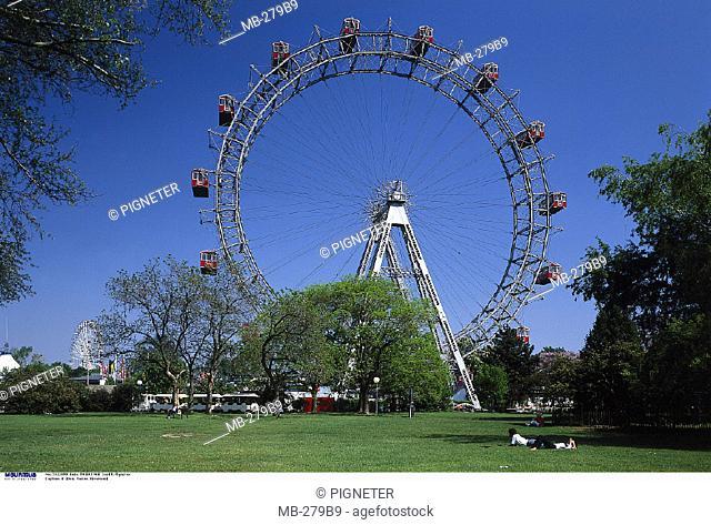 Austria, Vienna, Prater, Ferris wheel