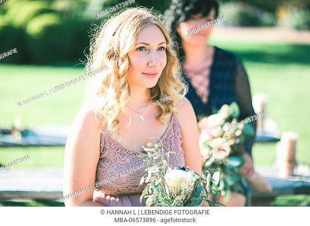 Witnesses at alternative wedding outside