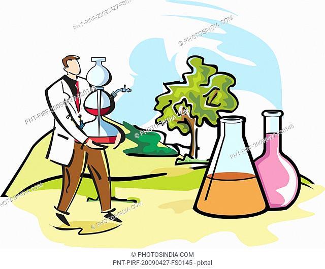 Scientist performing experiments