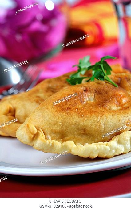 Empanadas pastries with fish filling