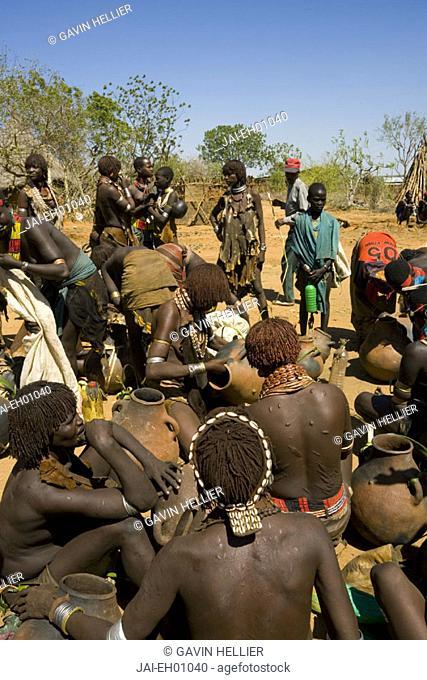 Market Day, Hamer Tribe, Lower Omo Valley, Turmi, Southern Ethiopia