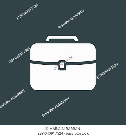 White briefcase icon on a dark background