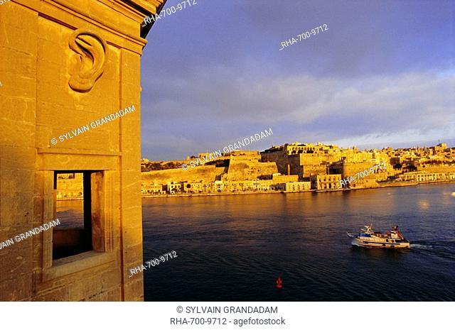 Grand Harbour, Valetta Valletta from Senglea, Malta, Mediterranean, Europe