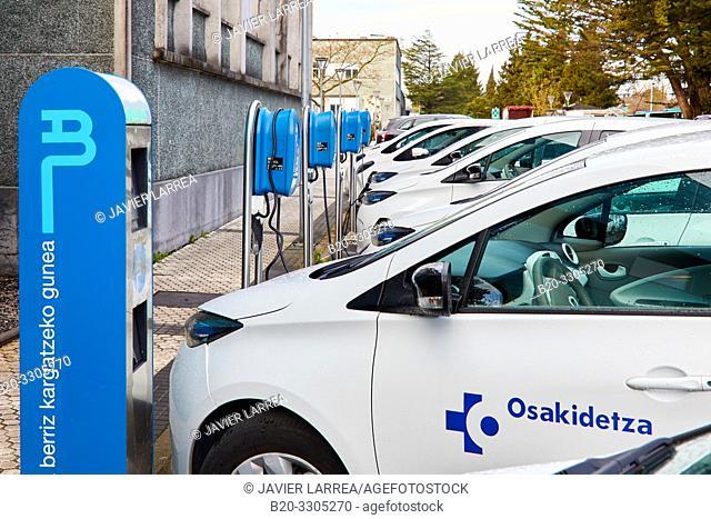 Electric cars, Hospitalization at home, Hospital Donostia, San Sebastian, Gipuzkoa, Basque Country, Spain