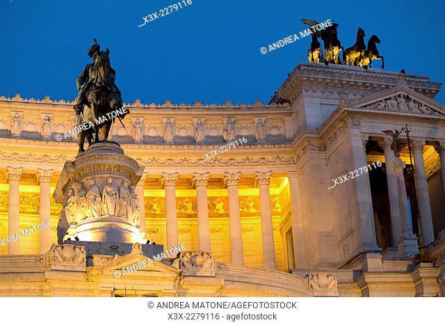 Detail of the Vittoriano monument. Piazza Venezia. Rome, Italy