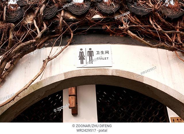Public toilets symbols