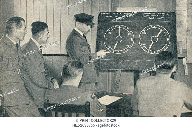A lecture on instrument flying at the Central Flying School at Upavon, Wiltshire, c1936 (c1937). Artist: Unknown