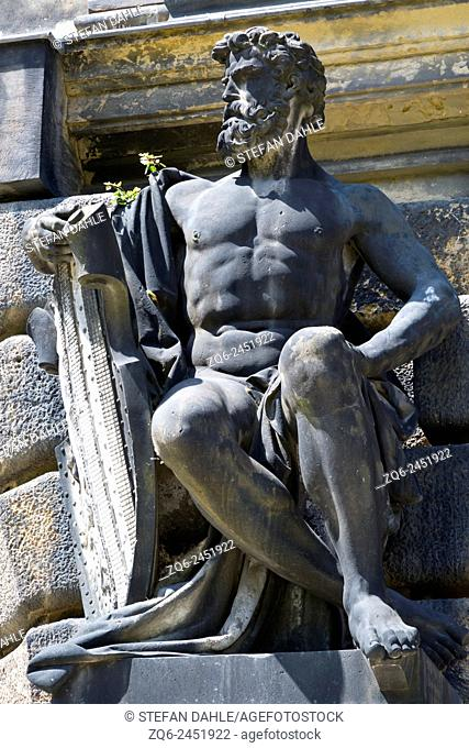 Statue at the Academy of Arts in Dresden, Saxony, Germany