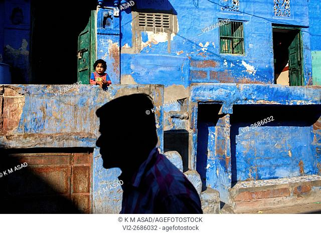 Early morning in Rajasthan, India, December 05, 2013. Jodhpur is second largest city in the Indian state of Rajasthan and has long been a popular destination...