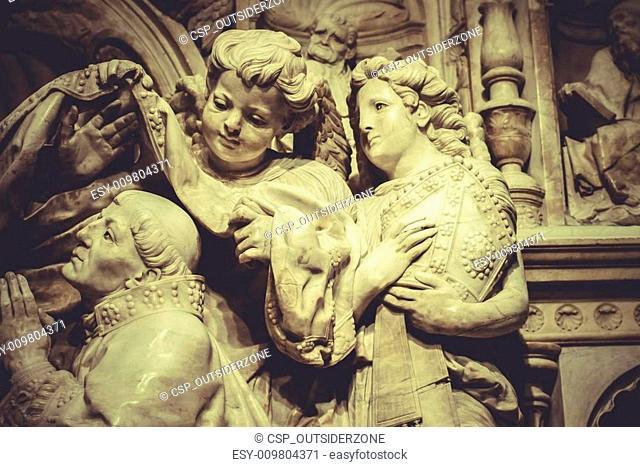 religion sculptures, angels romantic gothic