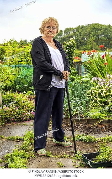Christine Jeffers, Plot 17, Eglinton Growers Allotments, Kilwinning, Ayrshire, Scotland, UK