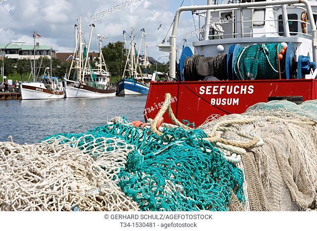 Shrimp Boats at Buesum Harbour, Schleswig-Holstein, Germany