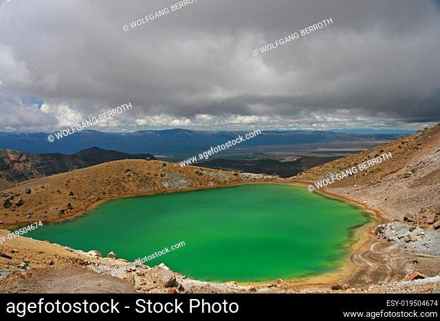 Emerald Lake - Tongariro Crossing - Neuseeland