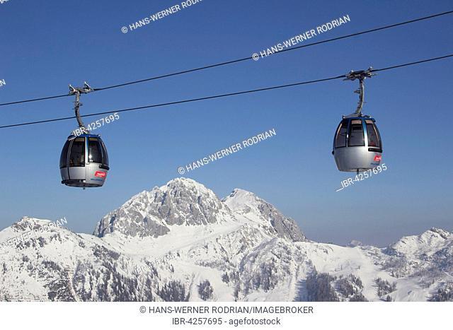 Millennium Express Gondola lift in the Nassfeld ski area, Carinthia, Austria