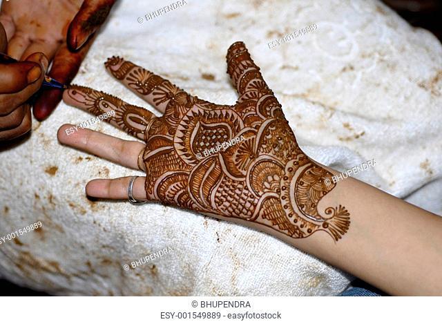 Henna Tattoo on Hands