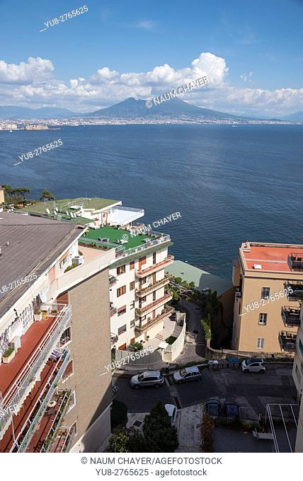 Bay of Naples and mount Vesuvius, Naples, southern Italy, Europe